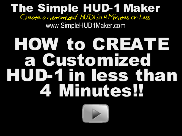 How to Create a Customized HUD-1 in less than 4 Minutes